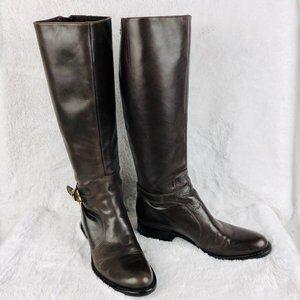 Via Spiga Cristie Brown Riding Boot Size 7.5
